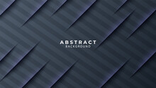 Gray Abstract Paper Background With Cutted Stripes.
