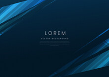 Abstract Blue Geometric Diagonal Overlay Layer Background.