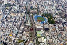 横浜スタジアム付近を空撮
