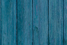 Old Blue Wooden Wall Made Of Planks