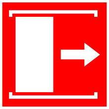 Door Slides Right To Open Symbol Sign, Vector Illustration, Isolate On White Background Label .EPS10