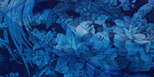 Blue Flowers Texture