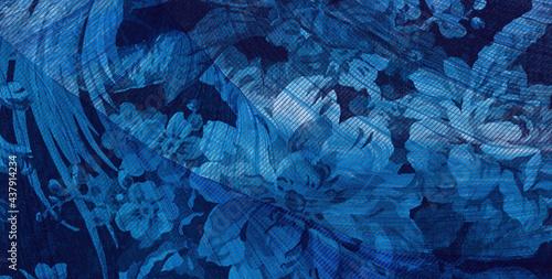 Fotografie, Obraz Blue flowers texture