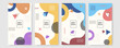 Set of abstract creative Memphis geometric universal artistic templates background. Good for poster, card, invitation, flyer, cover, banner, placard, brochure and other graphic design