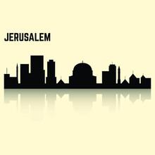 City Skyline In Black Jerusalem