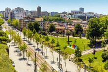 Panorama Of The Modern Part Of Vila Nova De Gaia, Porto District, Portugal