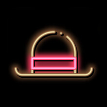 Bowler Hat Neon Light Sign Vector. Glowing Bright Icon Bowler Sign. Transparent Symbol Illustration