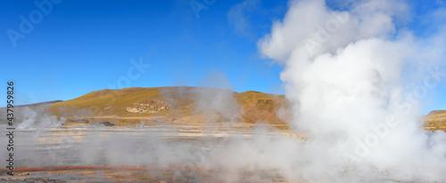 Fotografie, Tablou Tatio geysers