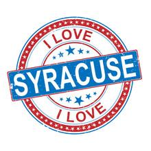 Rubber Stamp I Love Syracuse , Vector Illustration On White