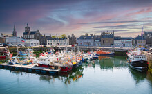Small Boat Harbour In Fraserburgh, Harbour, Aberdeenshire, Scotland, UK