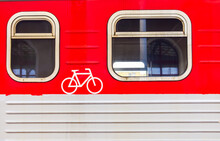 Bicycle Compartment Wagon Marked From Regional Train In Lithuania