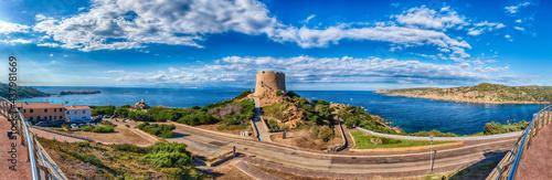 Fotografia Longonsardo tower, iconic landmark in Santa Teresa Gallura, Sardinia, Italy