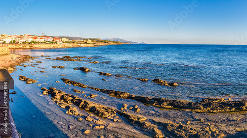 Fotografie, Obraz View from the historic ramparts in Alghero, Sardinia, Italy