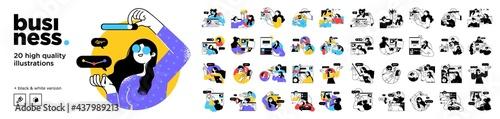 Tela Business Concept illustrations
