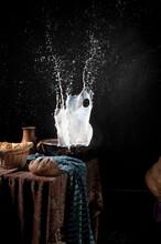 Vermeer, Paraphrase, Milk, Milkmaid, Dutch Painting, Splash
