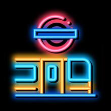 Closed Metro Doors Neon Light Sign Vector. Glowing Bright Icon Closed Metro Doors Sign. Transparent Symbol Illustration