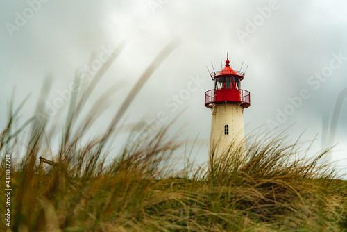 Fotografie, Obraz Leuchtturm Landschaft, Sylt, Nordsee, Nordfriesland