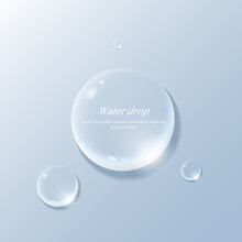 Transparent Water Droplets , Water Drop Object.
