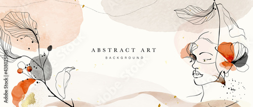 Photo Abstract art botanical background vector