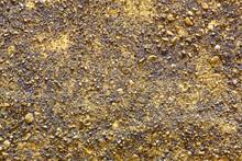 金属テクスチャー ゴールドの砂利のようなテクスチャ