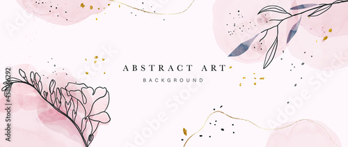 Fotografiet Abstract art botanical background vector