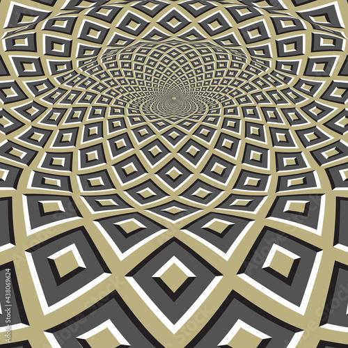Fotografija Moving optical illusion vector abstraction