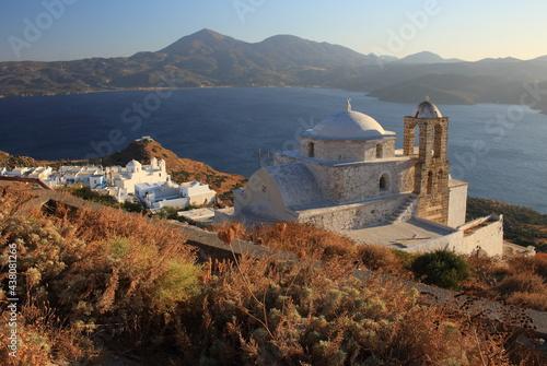 Plaka Milos Coucher de soleil Cyclades Grèce Fototapeta