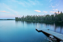 A Lake In Lapland Rovaniemi Summer Finland Midnight Summer Juhannus Time In Finland Suomi Lapland Metsä Järvi In Finland Taiga Forest Beautiful  Surroundings Arctic Circle With A Doc