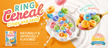 Colorful Ring Cereal Banner Ad