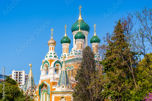 Photo The St Nicholas Orthodox Cathedral in Nice, Cote d'Azur, France