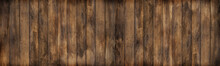 Panorama Old Wood Texture For Pattern Background And Copy Space.