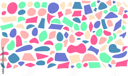 Obraz na plátne abstract shapes coming together