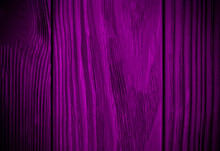 Bright Purple Wood Texture Background. Abstract Texture On Violet Wall. Aged Wood Plank Texture Pattern In Violet Tone. Rustic Floor Old Wood. Bright Lilac Rough Texture Background. Surface Blank