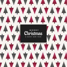Christmas Tree Pattern Design Background