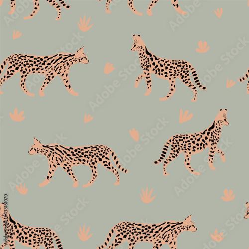 Leopard or cheetah exotic animal Fotobehang