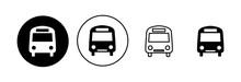 Bus Icon Set. Bus Vector Icon