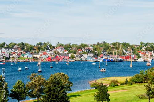 Stampa su Tela Picturesque village of Lunenburg Nova Scotia Canada taken from a park across fro