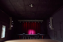 Empty Concert Hall With Small Stage