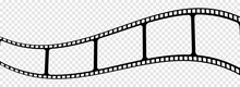 Curved Film Strip Icon. Vector Illustration Isolated On Transparent Background