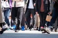 東京 渋谷スクランブル交差点 コロナ禍  2021年2月