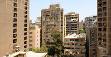 Apartment Buildings In Cairo On A Sunny Day