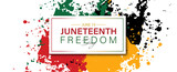 Juneteenth freedom day June 19 banner poster design .