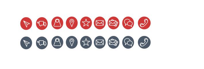 ikony, zestaw, ilustracja, sieć, projekt, zestaw ikon, tarcza, zamknięty otwarty,