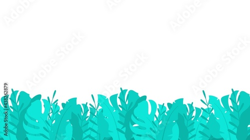 Fotografia Tropical thickets plants background