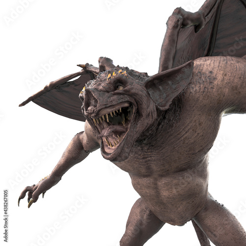 Fotografie, Obraz gargoyle is ready to attack close up view