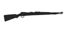 Silhouette Of Karabiner 98k German Bolt-action Rifle