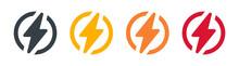 Lightning Bolt Icon, Vector. Energy Concept