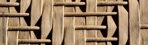textura patrón geométrico abstracto alto contraste café de madera