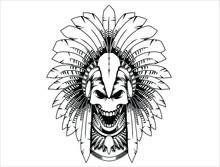 Apache Indian Skull