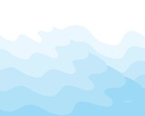 Curved background, light blue, waves, icebergs, sea water